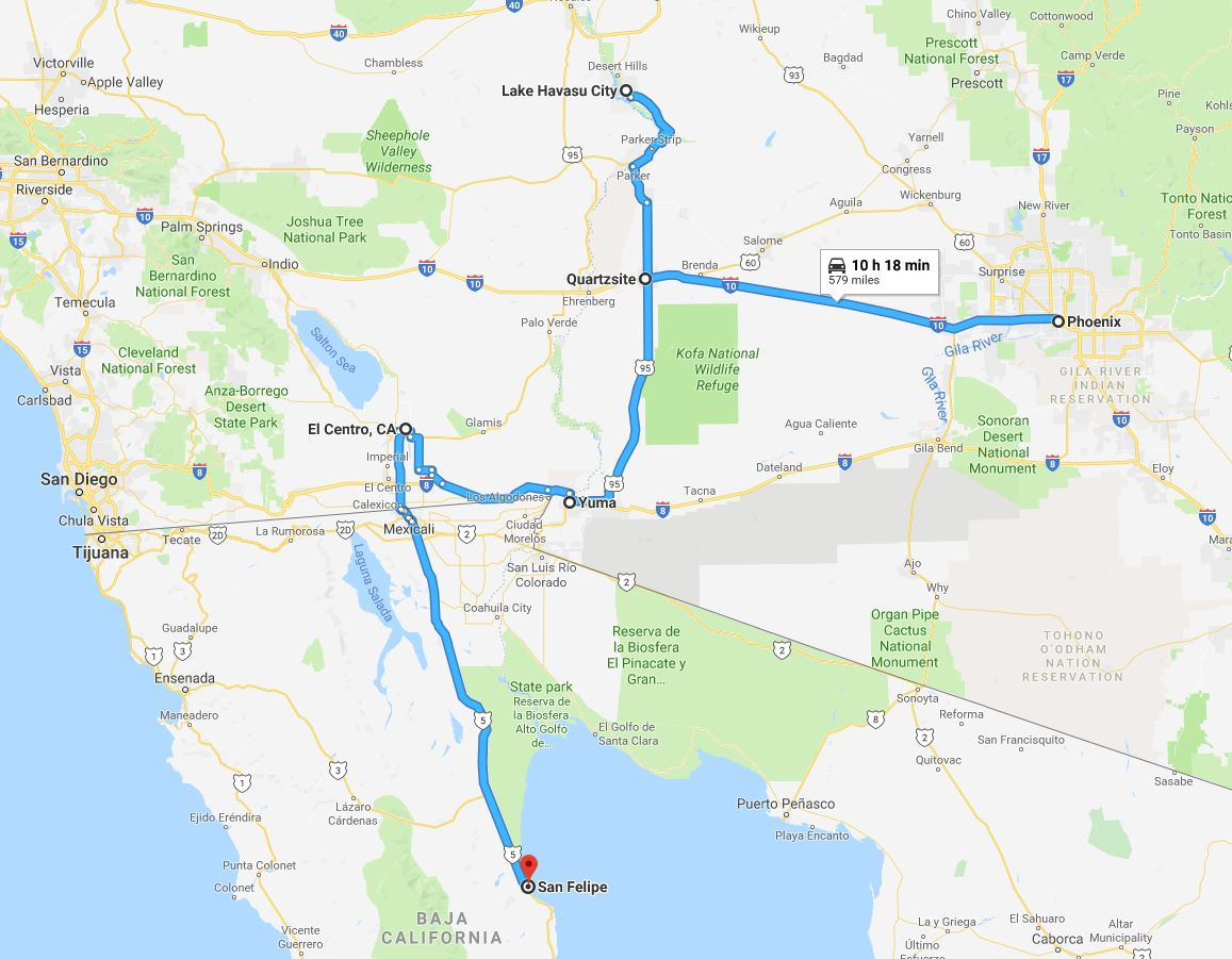 additional map of our past travels